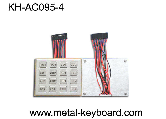 IP65 Rugged Stainless Steel Keyboard Door Entry Keypad in 4 X 4 Matrix