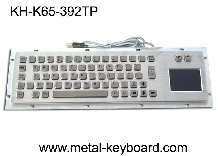 USB Port Industrial Metallic dust proof Panel Mount Keyboard with Touchpad
