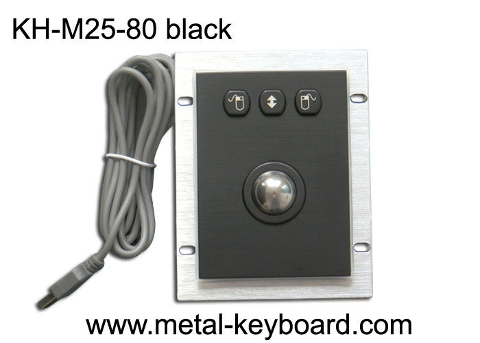 Black Color  Metal Trackball mouse with 3 buttons for muti-usage devices