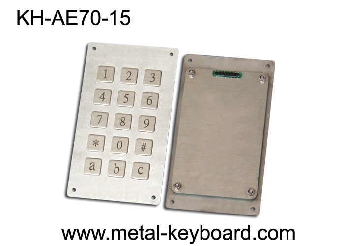 Metal Panel Mount  Keyboard with Anti - Vandalism , waterproof mechanical keyboard