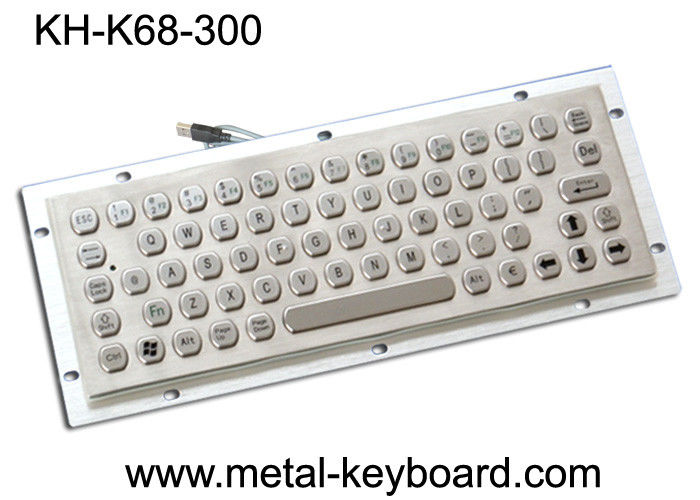 IP65 Vandal - proof Industrial Metal Keyboard for Internet Kiosk , SS Keyboard