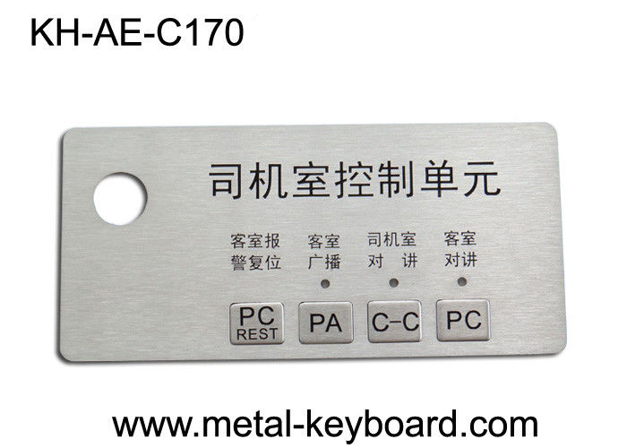 Custom Stainless Steel Panel rugged keypad For Intelligent Parking System
